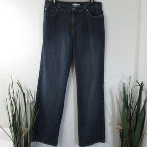 CAbi #713 Straight Jeans High Rise Stretch Sz 14